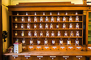 Medicine in the historic Gradska ljekarna pharmacy, old town Gradec, Zagreb, Croatia
