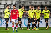 ALKMAAR - 12-09-2017, Jong AZ - Telstar, AFAS Stadion, 2-2, Jong AZ speler Tijan Reijnders, Telstar speler Andrija Novakovich