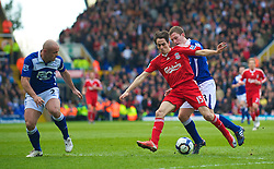 BIRMINGHAM, ENGLAND - Sunday, April 4, 2010: Liverpool's Yossi Benayoun in action against Birmingham City during the Premiership match at St Andrews. (Photo by David Rawcliffe/Propaganda)