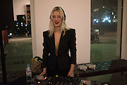 """GUEST DJ: HARRIET VERNEY, The launch of Rachel Howard's """"Humble Hanger"""" -  a limited edition jewellery collaboration with True Rocks.. BlainSouthern, Hanover Sq. London. 18 November 2015"""