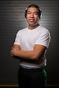 Senior Thomas Dao poses for a portrait during wrestling practice at Milpitas High School in Milpitas, California, on December 11, 2015. (Stan Olszewski/SOSKIphoto)
