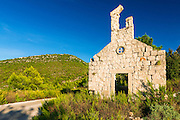 Church ruin, Ston, Dalmatian Coast, Croatia