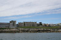 View of Loreto Abbey Dalkey School in Dublin Ireland from the sea