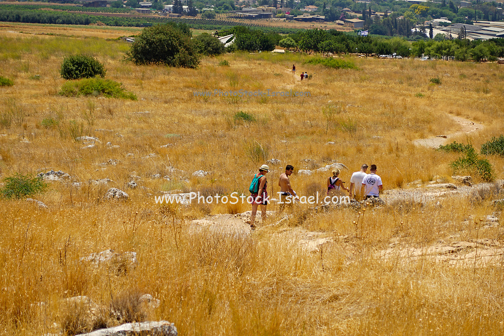 Mount Arbel Nature Reserve And National Park, Galilee, Israel a group of hikers