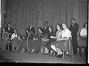 07/11/1959<br /> 11/07/1959<br /> 07 November 1959<br /> All Ireland Final of Gael Linn Children's Singing Competition at Francis  Xavier Hall, Dublin. Picture shows the Gael Linn cabaret group performing at the competition.