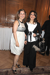 Left to right, ANNA CHARCHAFCHI and NISRAAN AL-YAWAR at a fashion show and lunch in aid of  AMAR International Charitable Foundation held at The Dorchester, Park Lane, London W1 on 9th October 2008.