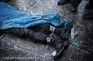 SYRIA, ALEPPO: Particular of one of more than 60 people found dead inside the river Oweq. Nearly all of them have been found shot in the head,  with bounded hands and ankles. January 29, 2012. ALESSIO ROMENZI