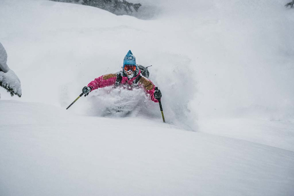 Over 45cm's fell during a 12 hour period at Burnie Glacier, British Columbia, and Erme Catino was there.