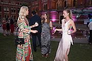 ANYA BARKER; CARINTHIA PEARSON; EMILY STEEL, V & A Summer party. South Kensington. London. 22 June 2016