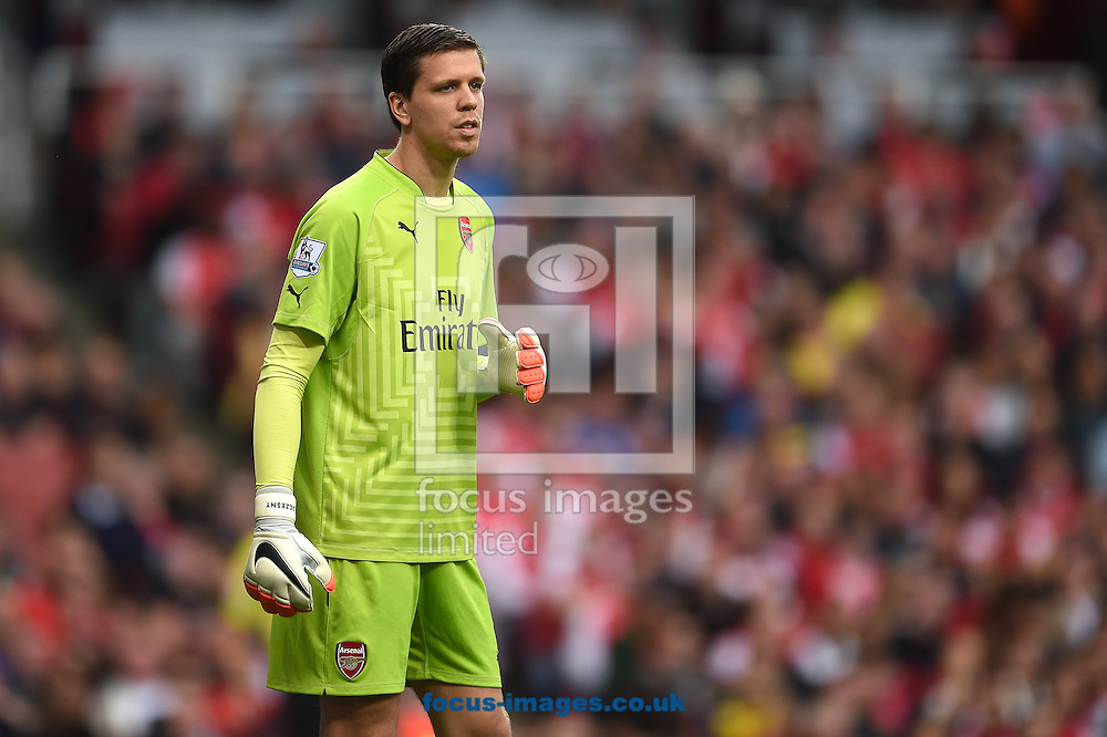 Wojciech Szczesny of Arsenal during the Barclays Premier League match against Hull City at the Emirates Stadium, London<br /> Picture by Andrew Timms/Focus Images Ltd +44 7917 236526<br /> 18/10/2014
