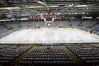 KELOWNA, CANADA - MARCH 27:  Prospera Place is ready for Round 1 of WHL playoffs where the Kelowna Rockets take on the Tri-City Americans on March 27, 2015 at Prospera Place in Kelowna, British Columbia, Canada.  (Photo by Marissa Baecker/Shoot the Breeze)  *** Local Caption *** Prospera Place;