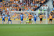Emiliano Martínez saves a penalty during the Sky Bet Championship match between Wolverhampton Wanderers and Brighton and Hove Albion at Molineux, Wolverhampton, England on 19 September 2015. Photo by Alan Franklin.