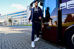 Chris Taylor of Bristol Flyers arrives at Plymouth Pavilions prior to kick off - Photo mandatory by-line: Ryan Hiscott/JMP - 28/10/2018 - BASKETBALL - Plymouth Pavilions - Plymouth, England - Plymouth Raiders v Bristol Flyers - British Basketball Cup