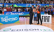 DESCRIZIONE : Trento Nazionale Italia Uomini Trentino Basket Cup Italia Belgio Italy Belgium<br /> GIOCATORE : premiazione arbitro<br /> CATEGORIA : premiazione coppa premio awards<br /> SQUADRA : Italia Italy<br /> EVENTO : Trentino Basket Cup<br /> GARA : Italia Belgio Italy Belgium<br /> DATA : 12/07/2014<br /> SPORT : Pallacanestro<br /> AUTORE : Agenzia Ciamillo-Castoria/A.Scaroni<br /> Galleria : FIP Nazionali 2014<br /> Fotonotizia : Trento Nazionale Italia Uomini Trentino Basket Cup Italia Belgio Italy Belgium