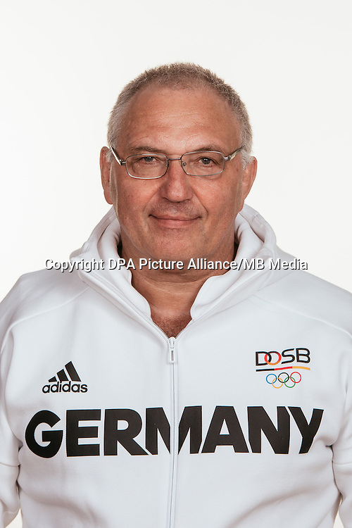 Peter Frese poses at a photocall during the preparations for the Olympic Games in Rio at the Emmich Cambrai Barracks in Hanover, Germany, taken on 12/07/16 | usage worldwide