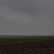 Fields near Pozieres, France in a dark November day. The Battle of ‪Pozières‬ was a two week struggle (23 July – 7 August 1916) by British and Australian divisions for the capture of the village of Pozieres during  the 1916 battle of the Somme.