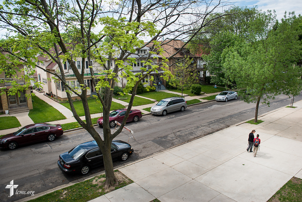 The neighborhood surrounding Mount Calvary Lutheran Church and School on Wednesday, May 28, 2014, in Milwaukee, Wis. LCMS Communications/Erik M. Lunsford