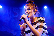 Mandy Lee/MisterWives performing live at the Independent concert venue in San Francisco, CA on June 4, 2015