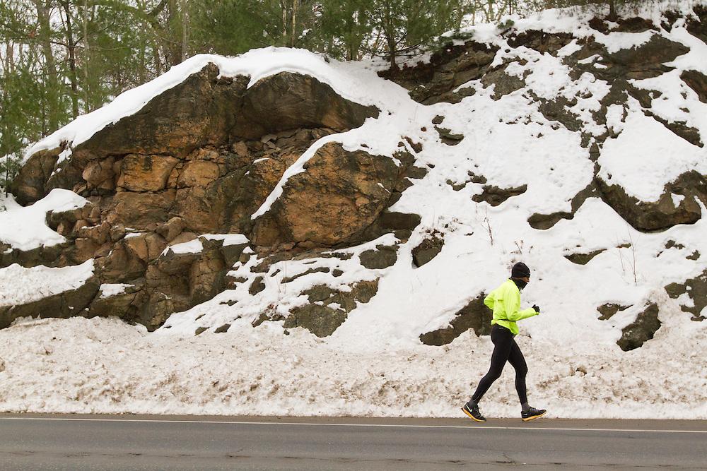 Gary Allen runs from Maine to Washington DC, nearing Bath