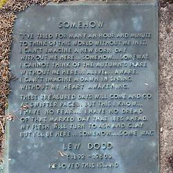 Lew Dodd Tombstone, Yellow Island, San Juan Islands, Washington, US