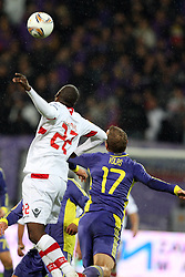 Djamal of NK Braga and Dalibor Volas of NK Maribor at 3th round of European Leauge football match between Nk Maribor and Nk Braga, November 20, 2011, in Maribor, Slovenia (Photo by Urban Urbanc / Sportida ) .