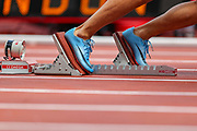 Marcus CHAMBERS of the United States at the start of the Men's 400m during the Muller Anniversary Games 2019 at the London Stadium, London, England on 21 July 2019.