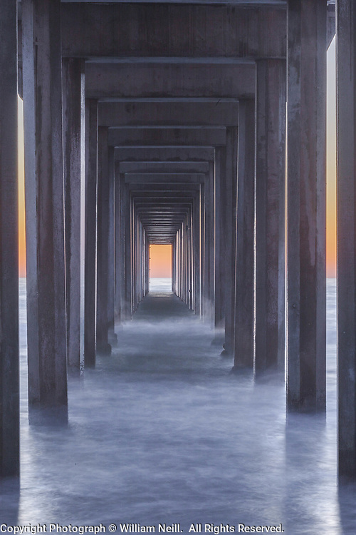 Surf at Twilight. Scripps Pier, La Jolla, California  2010