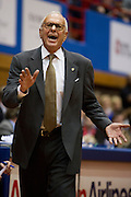 DALLAS, TX - JANUARY 6:  Head coach Larry Brown of the SMU Mustangs has words with an official as his team plays against the Tulsa Golden Hurricane on January 6, 2013 at Moody Coliseum in Dallas, Texas.  (Photo by Cooper Neill/Getty Images) *** Local Caption *** Larry Brown