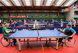 Andreja Dolinar of Slovenia in action during 15th Slovenia Open - Thermana Lasko 2018 Table Tennis for the Disabled, on May 9, 2018, in Dvorana Tri Lilije, Lasko, Slovenia. Photo by Vid Ponikvar / Sportida