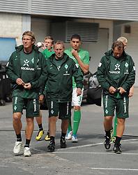 16.07.2011, Trainingsgelaende Werder Bremen, Bremen, GER, 1.FBL, Training Werder Bremen, im Bild Michael Kraft (Torwart-Trainer Werder Bremen), Matthias Hönerbach / Hoenerbach (Co-Trainer Werder Bremen), Wolfgang Rolff (Co-Trainer Werder Bremen)   // during training session from Werder Bremen 2011/07/16    EXPA Pictures © 2011, PhotoCredit: EXPA/ nph/  Frisch       ****** out of GER / CRO  / BEL ******