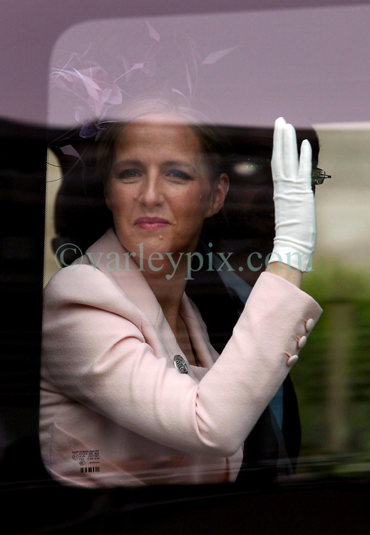 29 April 2011. London, England..Royal wedding day. Royal arrivals at Westminster Abbey. Zara Phillips, daughter of Princess anne..Photo; Charlie Varley.