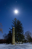 Goshen, New York - The moon and Jupiter in the night sky at Salesian Park on Feb. 11, 2014.
