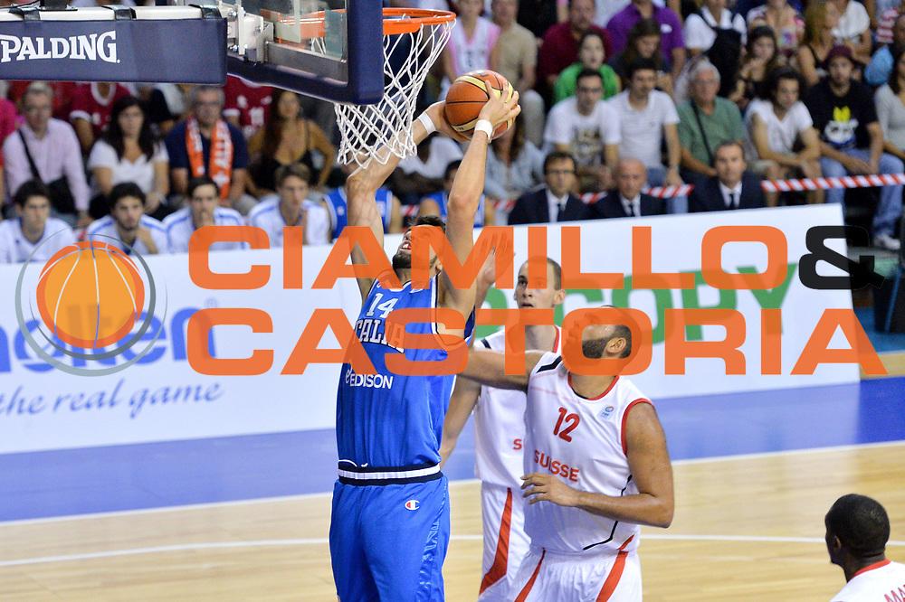 DESCRIZIONE : Bellinzona Qualificazione Eurobasket 2015 Qualifying Round Eurobasket 2015 Svizzera Italia Switzerland Italy <br /> GIOCATORE : Riccardo Cervi<br /> CATEGORIA : Tiro<br /> EVENTO : Bellinzona Qualificazione Eurobasket 2015 Qualifying Round Eurobasket 2015 Svizzera Italia Switzerland Italy <br /> GARA : Svizzera Italia Switzerland Italy <br /> DATA : 27/08/2014 <br /> SPORT : Pallacanestro <br /> AUTORE : Agenzia Ciamillo-Castoria/Mancini Ivan<br /> Galleria: Fip Nazionali 2014 Fotonotizia: Bellinzona Qualificazione Eurobasket 2015 Qualifying Round Eurobasket 2015 Svizzera Italia Switzerland Italy <br /> Predefinita :