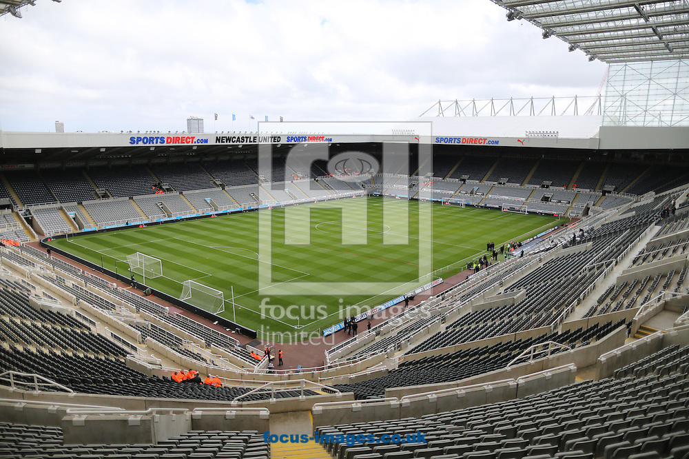 A general view of St. James's Park prior to the Barclays Premier League match at St. James's Park, Newcastle<br /> Picture by Simon Moore/Focus Images Ltd 07807 671782<br /> 19/04/2015