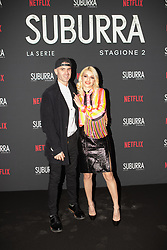 Carlotta Antonelli with her boyfriend at the Red Carpet of the series Suburra 2 at Circolo Degli Illuminati in Rome, Italy, 20 February 2019 .Dress: MSGM  (Credit Image: © Lucia Casone/Soevermedia via ZUMA Press)