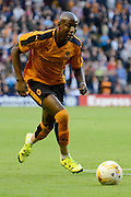 Benik Afobe on the ball during the Pre-Season Friendly match between Wolverhampton Wanderers and Aston Villa at Molineux, Wolverhampton, England on 28 July 2015. Photo by Alan Franklin.