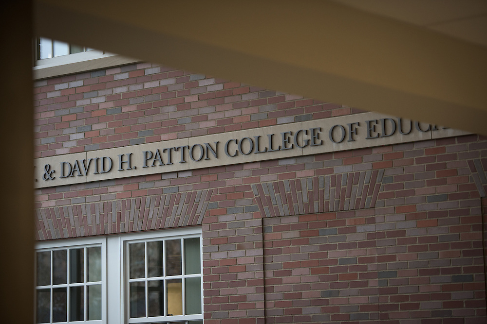The ribbon cutting ceremony for the Gladys W. and David H. Patton College of Education's newly renovated McCracken Hall was held on January 27, 2017.