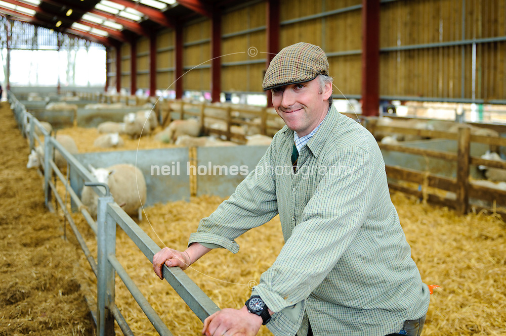 Lambing Sunday, 27th March 2011 at Bishop Burton College. Pictured Dominic Naylor (collage farm manager)