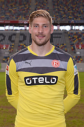02.07.2015, Esprit Arena, Duesseldorf, GER, 2. FBL, Fortuna Duesseldorf, Fototermin, im Bild Torhueter Lars Unnerstall ( Fortuna Duesseldorf / Portrait ) // during the official Team and Portrait Photoshoot of German 2nd Bundesliga Club Fortuna Duesseldorf at the Esprit Arena in Duesseldorf, Germany on 2015/07/02. EXPA Pictures &copy; 2015, PhotoCredit: EXPA/ Eibner-Pressefoto/ Thienel<br /> <br /> *****ATTENTION - OUT of GER*****