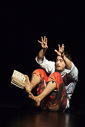© Licensed to London News Pictures. 05/09/2011. London, UK. Helder Seabra performing. Visionary Japanese manga artist and animator Osamu Tezuka provides the inspiration for internationally renowned choreographer and Sadler's Wells Associate Artist Sidi Larbi Cherkaoui's brand new work - TeZukA. Photo credit: Bettina Strenske/LNP