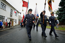 CZECH REPUBLIC VYSOCINA NEDVEZI 30JUL11 - CZECH REPUBLIC VYSOCINA NEDVEZI 30JUL11 - Voluntary firemen from Nedvezi march during a gathering of fire crews in the village of Nedvezi, Vysocina, Czech Republic...This year marks the 120th anniversary of the voluntary firemen in Nedvezi, Vysocina, Czech Republic.....jre/Photo by Jiri Rezac....© Jiri Rezac 2011