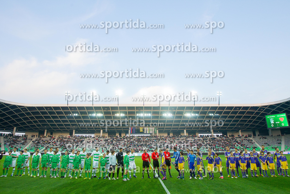 Players during football match between NK Olimpija Ljubljana and NK Maribor of 25th Round of PrvaLiga, on March 21, 2012, in SRC Stozice, Ljubljana, Slovenia. (Photo by Vid Ponikvar / Sportida.com)