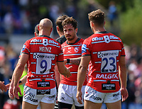 Rugby Union - 2018 / 2019 Gallagher Premiership - Play-Off Semi-Final: Saracens vs. Gloucester<br /> <br /> Gloucester's Danny Cipriani with Willi Heinz at the final whistle, at Allianz Park.<br /> <br /> COLORSPORT/ASHLEY WESTERN