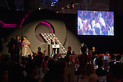 SIR ELTON JOHN; LILY ALLEN;. GQ 2008 Men of the Year awards. Royal Opera House. Covent Garden. London. 2 September 2008 *** Local Caption *** -DO NOT ARCHIVE-© Copyright Photograph by Dafydd Jones. 248 Clapham Rd. London SW9 0PZ. Tel 0207 820 0771. www.dafjones.com.