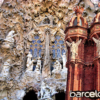 Unique Historical Architecture in Barcelona, Spain <br />