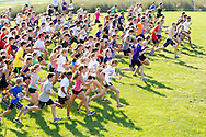 Central Valley, New York - Runners take off at the start ofthe Woodbury Country Ramble race on Aug. 26, 2012.
