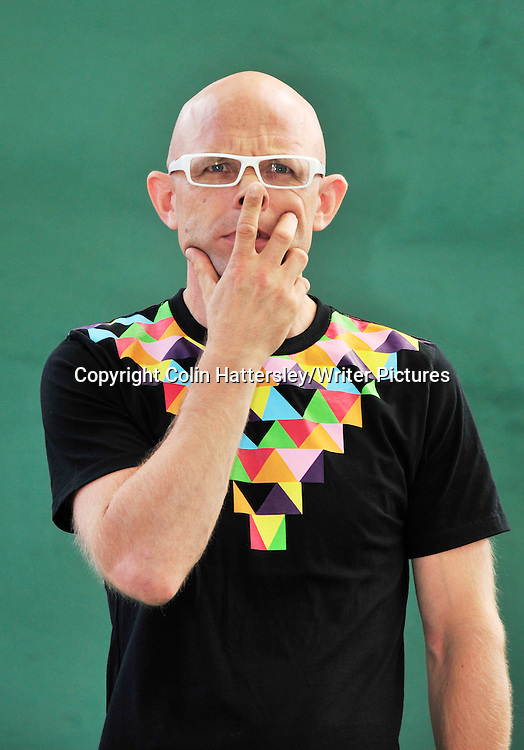 Jason Bradbury, British television presenter and children's author, at the Edinburgh International Book Festival, 14/08/2010.<br /> <br /> Colin Hattersley/Writer Pictures<br /> contact +44 (0)20 822 41564<br /> info@writerpictures.com<br /> www.writerpictures.com