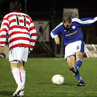 Hamilton v St Johnstone..29.12.04<br />Paul Sheerin fires home his free kick to put St Johnstone 2-0 up<br /><br />Picture by Graeme Hart.<br />Copyright Perthshire Picture Agency<br />Tel: 01738 623350  Mobile: 07990 594431