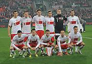 Wroclaw 15/11/2013<br />International friendly match<br />Poland vs Slovakia<br />Team picture Tomasz Jodlowiec /6/, Artur Jedrzejczyk /3/, Marcin Kaminski /21/, Pawel Olkowski /14/, Artur Boruc /1/, Grzegorz Krychowiak /8/, Robert Lewandowski /9/, Waldemar Sobota /5/, Jakub Blaszczykowski /16/, Adrian Mierzejewski /18/, Rafal Kosznik /15/<br />Photo by: Piotr Hawalej