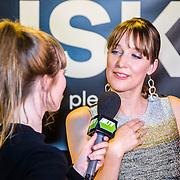 NLD/Amsterdam/20160601 - Uitreiking Porna Awards 2016, actrice geeft interview aan Lol TV